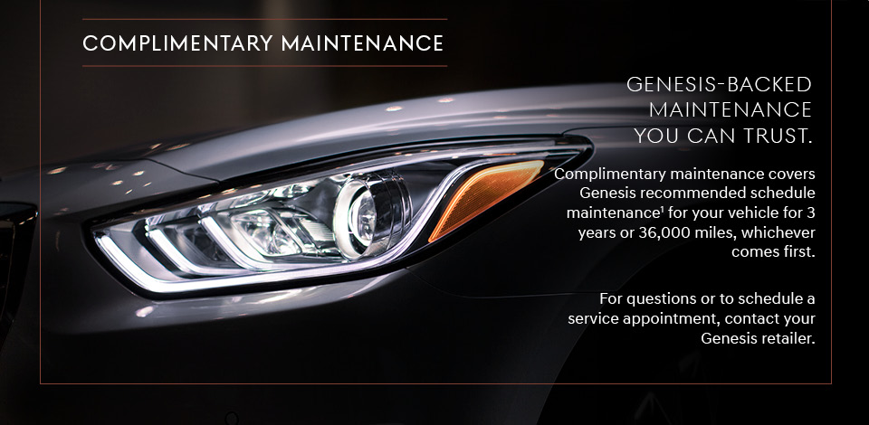 Genesis Complimentary Maintenance