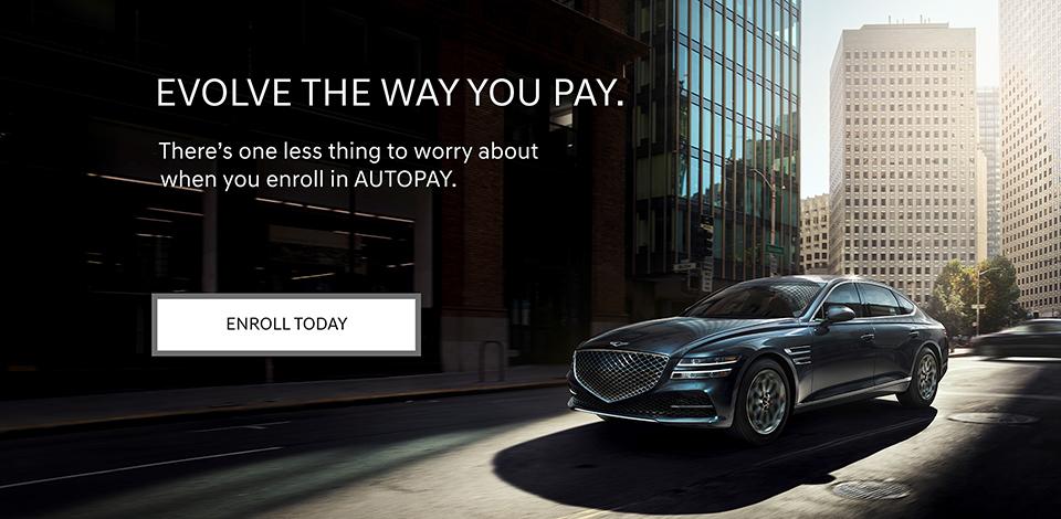 2021 Genesis Enroll in Autopay