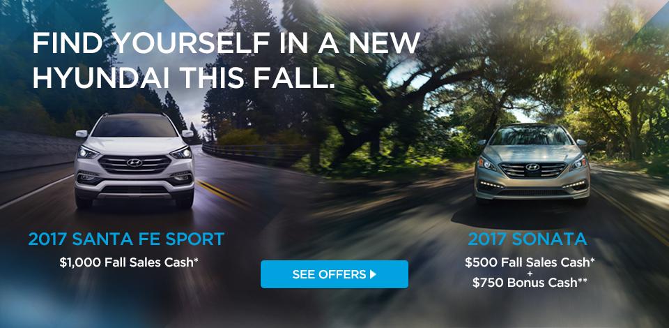 Sonata / Santa Fe Sport Fall Sales Cash
