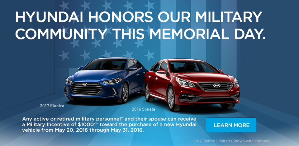 Hyundai Honors our Military Community this Memorial Day.