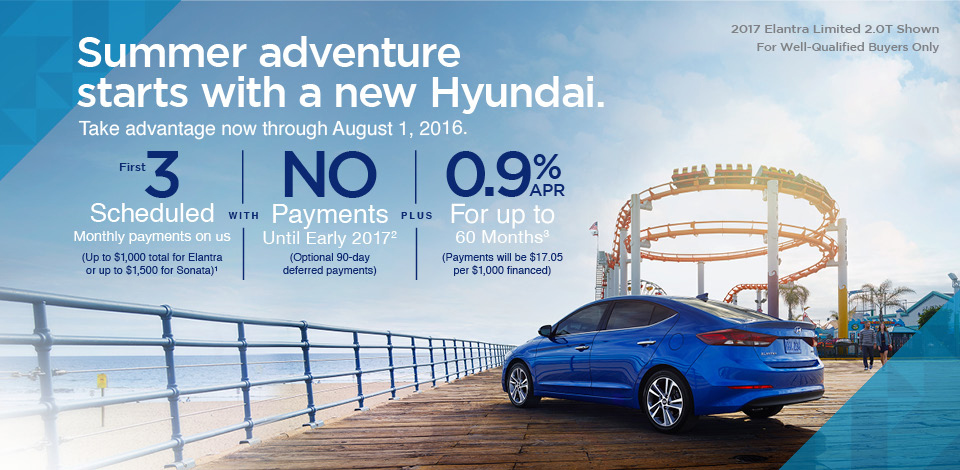 Summer adventure starts with a new Hyundai.