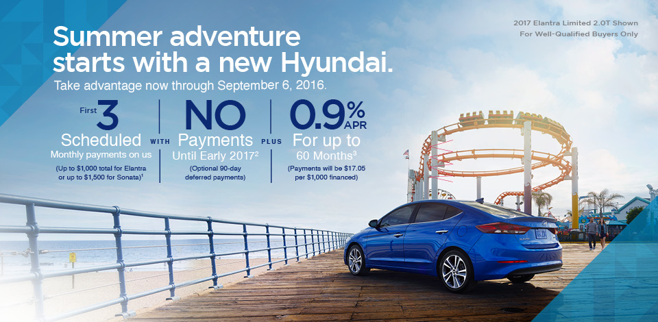 Summer adventure starts with a new Hyundai.