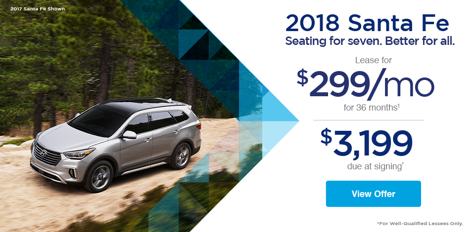 2018 Santa Fe Seating for seven. Seating for all