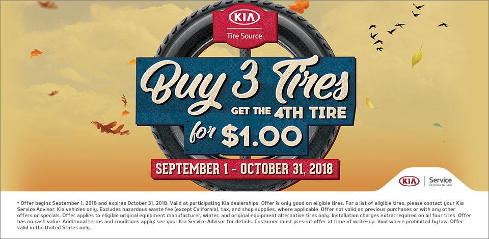 2018 Buy 3 Tires